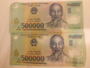 1 million Vietnamese dong