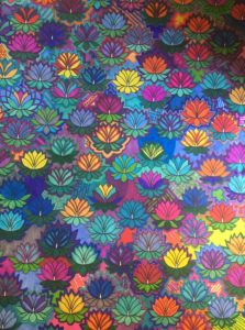 page full of colorful lotus flowers