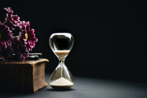 hourglass showing time is valuable