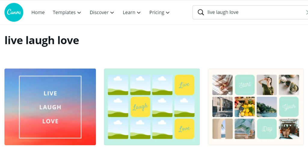 two templates offer space for 12 vision board images in one document on Canva