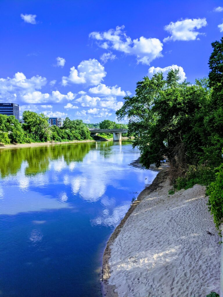 beautiful river view in Lafayette, Indiana
