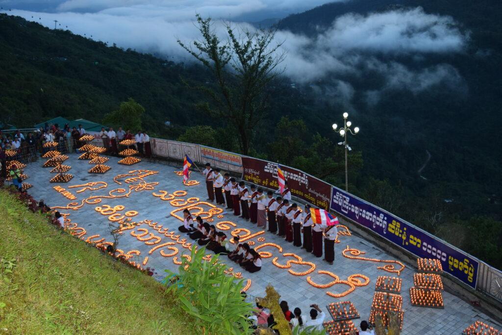 candles Golden Rock on Thadingyut