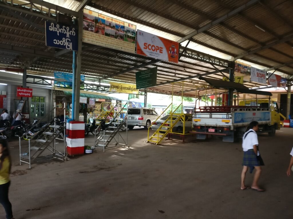 place with trucks to Kyaiktiyo Pagoda on Thadingyut
